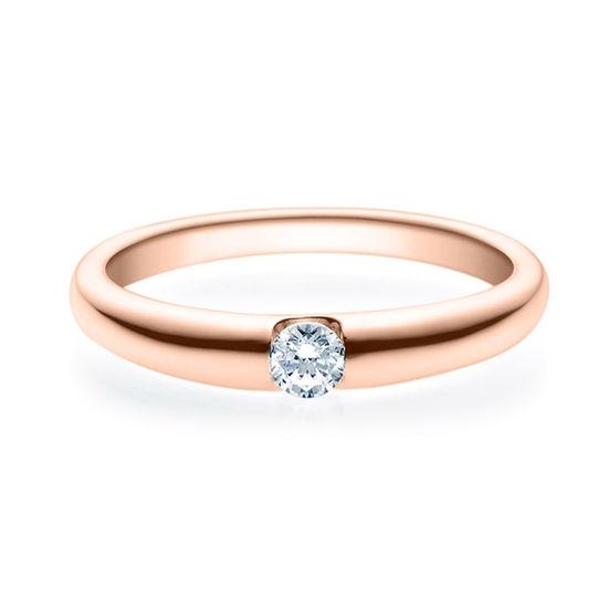 Enstens diamantring med 0,16 ct i 14kt gull. TW-Si. -18005016