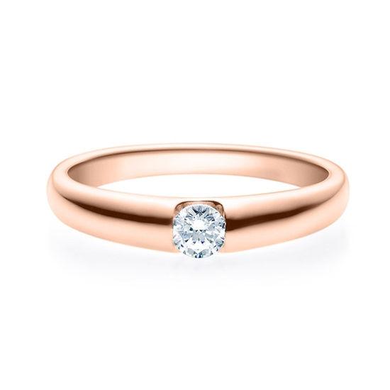 Enstens diamantring med 0,20 ct i 14kt gull. TW-Si. -18005020