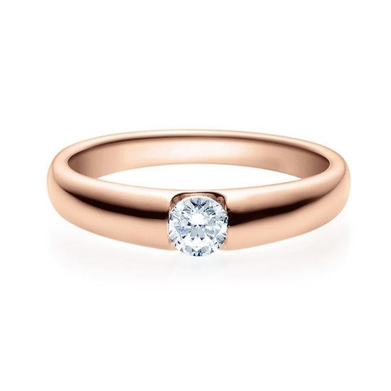 Enstens diamantring med 0,25 ct i 14kt gull. TW-Si. -18005025