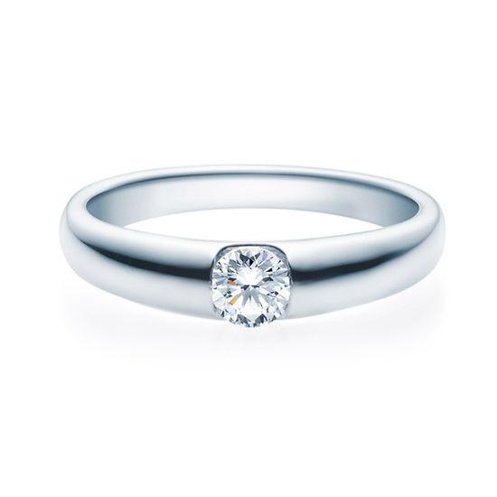 Enstens diamantring med 0,30 ct i 14kt gull. TW-Si. -18005030