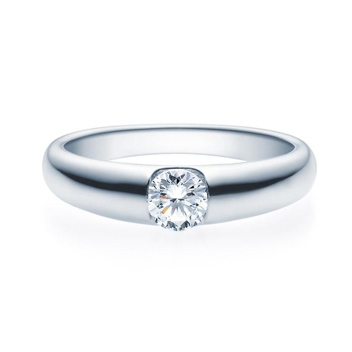 Enstens diamantring med 0,40 ct i 14kt gull. TW-Si. -18005040