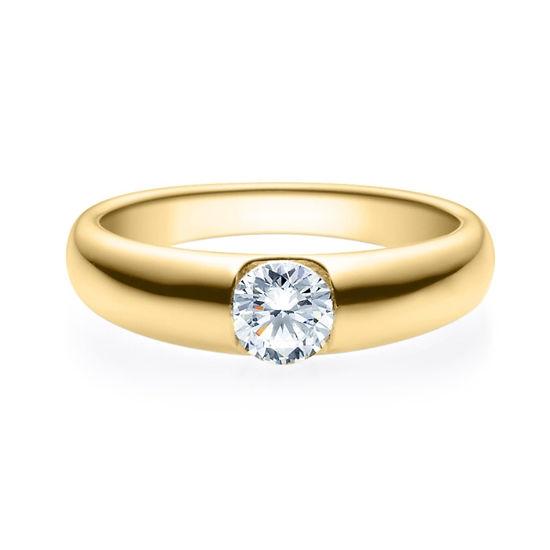 Enstens diamantring med 0,50 ct i 14kt gull. TW-Si. -18005050