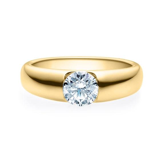 Enstens diamantring med 0,70 ct i 14kt gull. TW-Si. -18005070