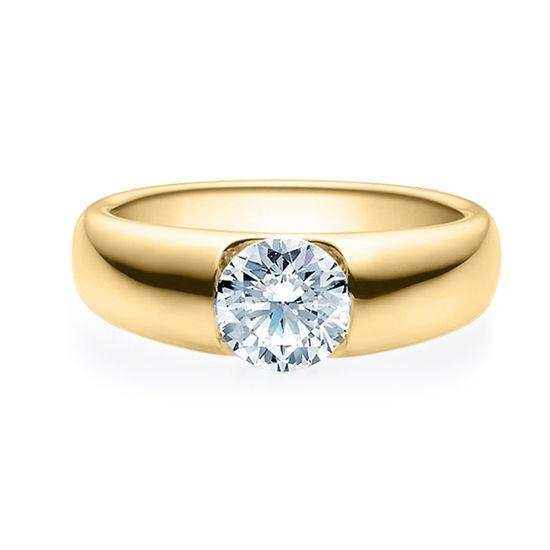 Enstens diamantring med 1,00 ct i 14kt gull. TW-Si. -180050100