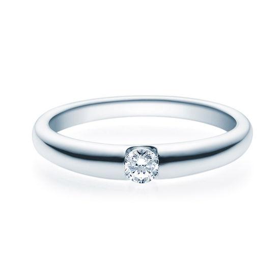 Enstens diamantring med 0,16 ct TW-Si i platina -18005016pt