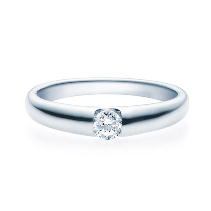 Enstens diamantring med 0,20 ct TW-Si i platina -18005020pt
