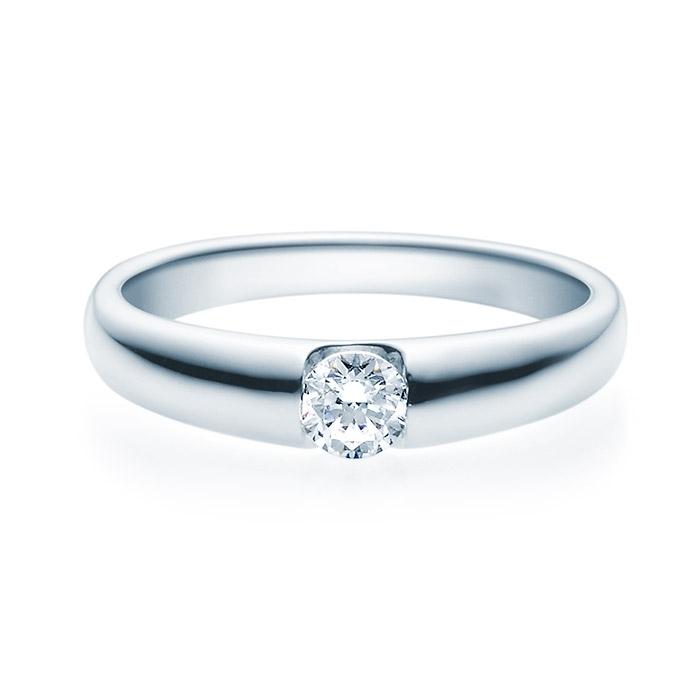 Enstens diamantring med 0,25 ct TW-Si i platina -18005025pt
