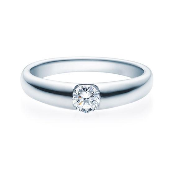Enstens diamantring med 0,30 ct TW-Si i platina -18005030pt