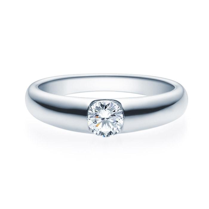 Enstens diamantring med 0,40 ct TW-Si i platina -18005040pt