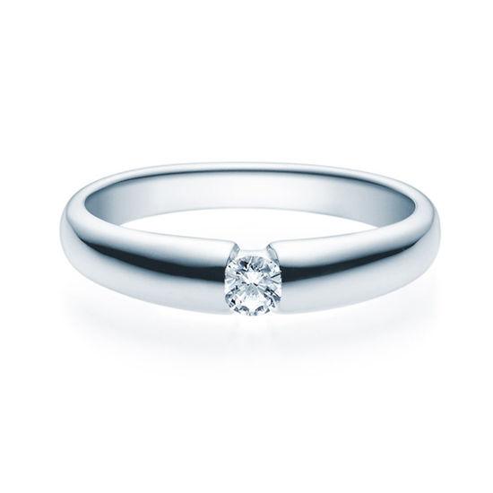 Enstens diamantring med 0,16 ct i 14kt gull. TW-Si. -18006016
