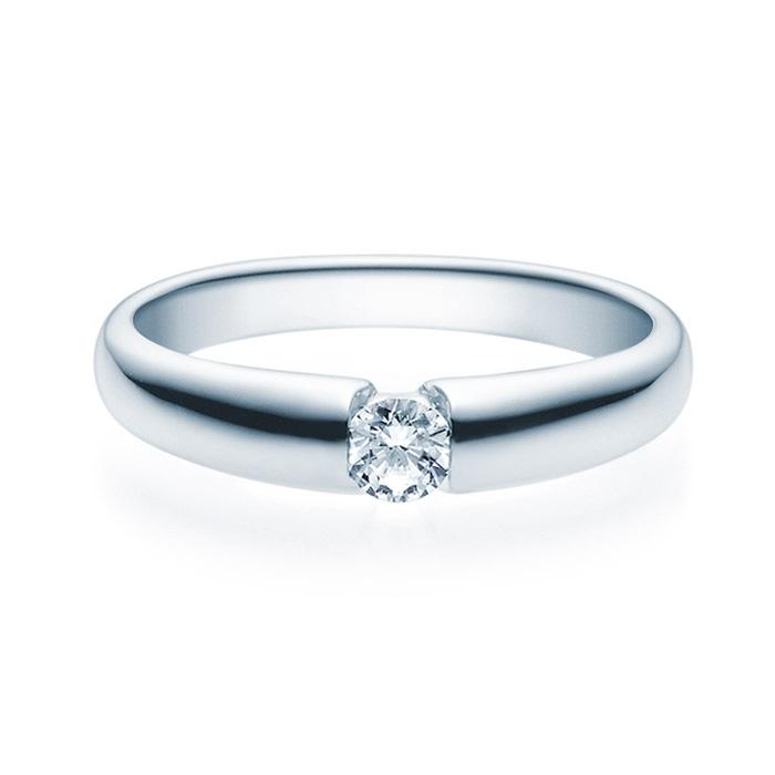 Enstens diamantring med 0,20 ct i 14kt gull. TW-Si. -18006020
