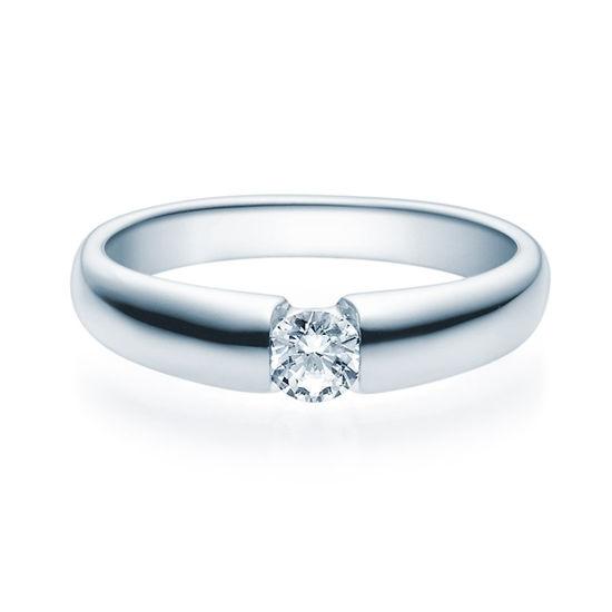 Enstens diamantring med 0,25 ct i 14kt gull. TW-Si. -18006025