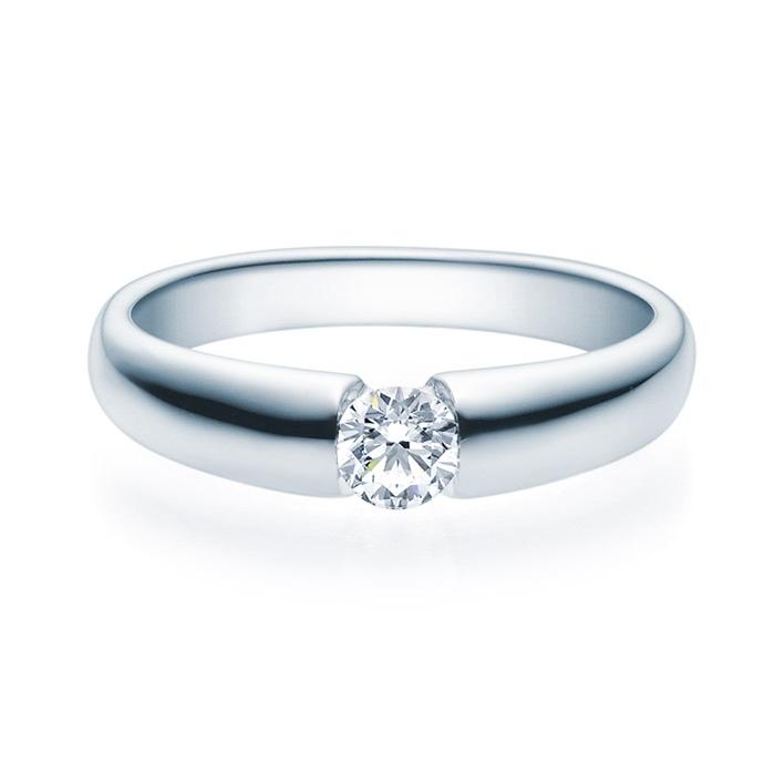 Enstens diamantring med 0,30 ct i 14kt gull. TW-Si. -18006030