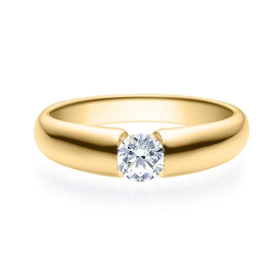 Enstens diamantring med 0,40 ct i 14kt gull. TW-Si. -18006040