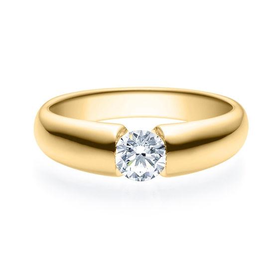 Enstens diamantring med 0,50 ct i 14kt gull. TW-Si. -18006050