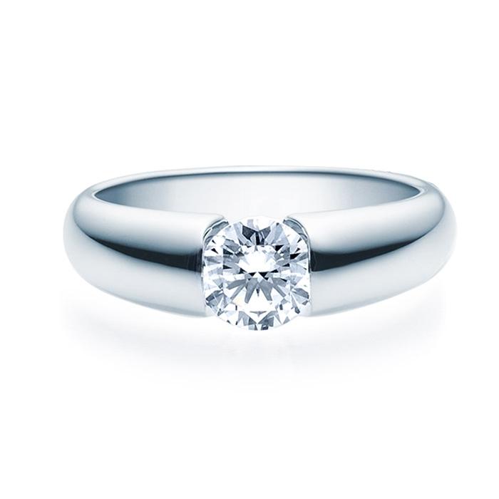 Enstens diamantring med 0,70 ct i 14kt gull. TW-Si. -18006070