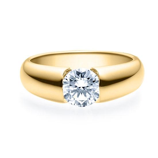 Enstens diamantring med 1,00 ct i 14kt gull. TW-Si. -18006100