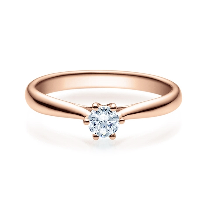 Enstens diamantring Leticia med 0,25 ct i 14kt gull. TW-Si. -18007025