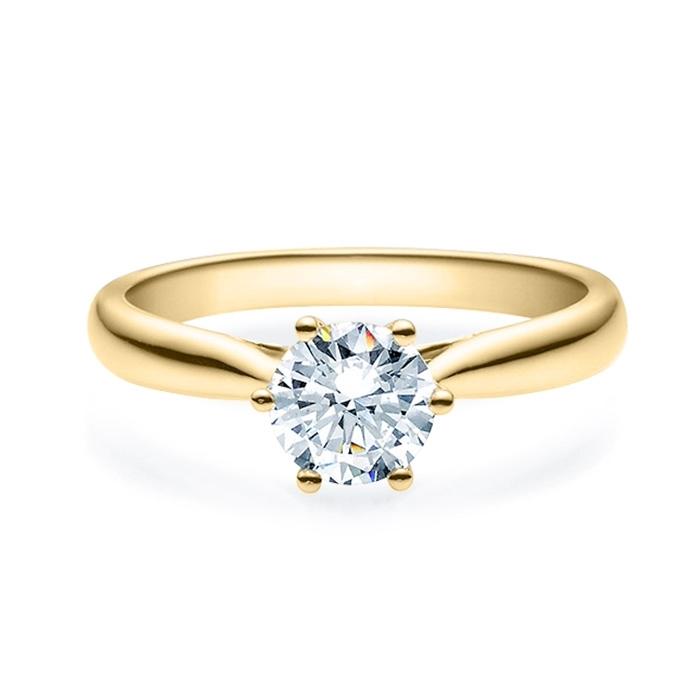 Enstens diamantring Leticia med 0,70 ct i 14kt gull. TW-Si. -18007070