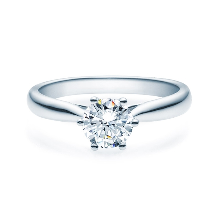 Enstens diamantring Leticia med 0,70 ct TW-Si i platina -18007070pt