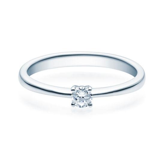 Enstens diamantring Lilya med 0,16 ct TW-Si i platina -18008016pt
