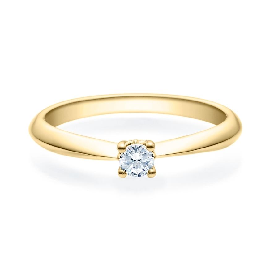 Enstens diamantring Naima med 0,16 ct i 14kt gull. TW-Si. -18009016