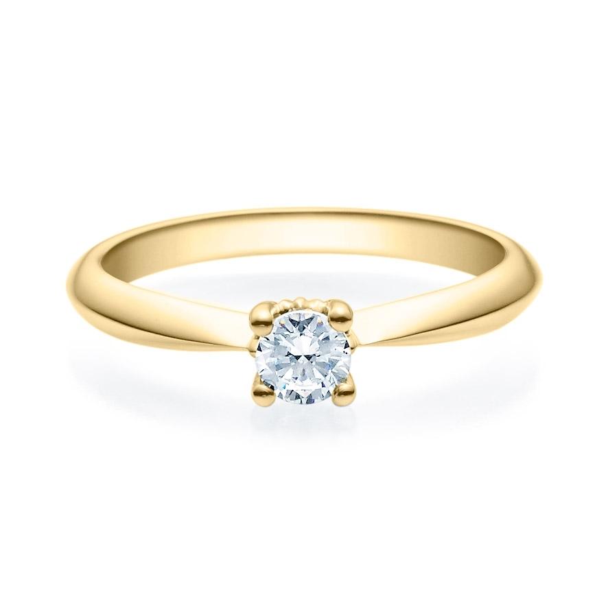 Enstens diamantring Naima med 0,25 ct i 14kt gull. TW-Si. -18009025