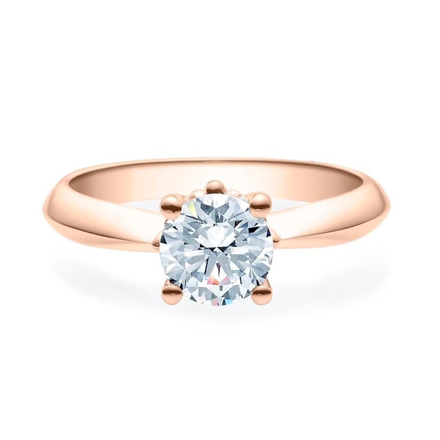 Enstens diamantring Naima med 1,00 ct i 14kt gull. TW-Si. -18009100