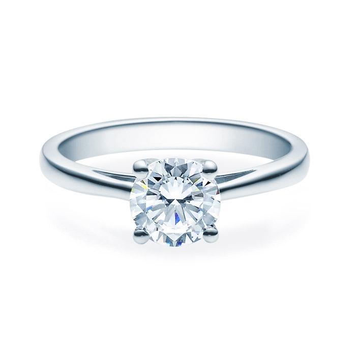 Enstens diamantring Soria med 1,00 ct i 14kt gull. TW-Si. -18010100