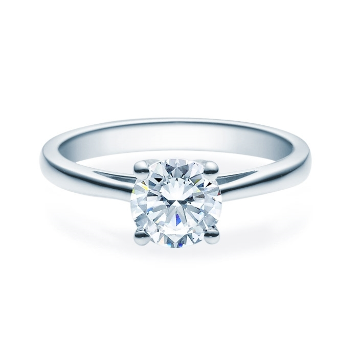 Enstens diamantring Soria med 1,00 ct TW-Si i platina -18010100pt