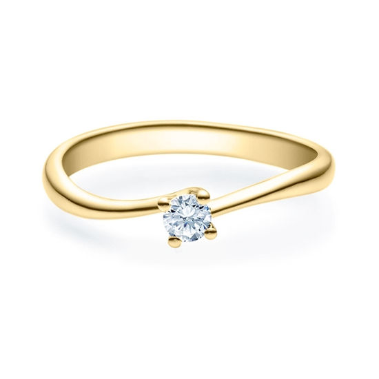 Enstens diamantring Melina med 0,16 ct i 14kt gull. TW-Si. -18011016