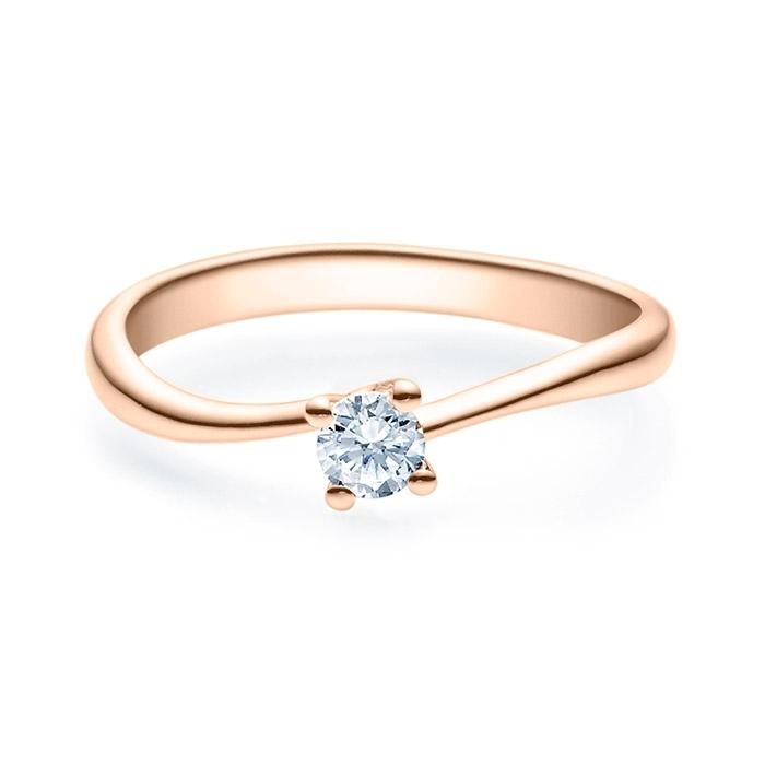 Enstens diamantring Melina med 0,20 ct i 14kt gull. TW-Si. -18011020