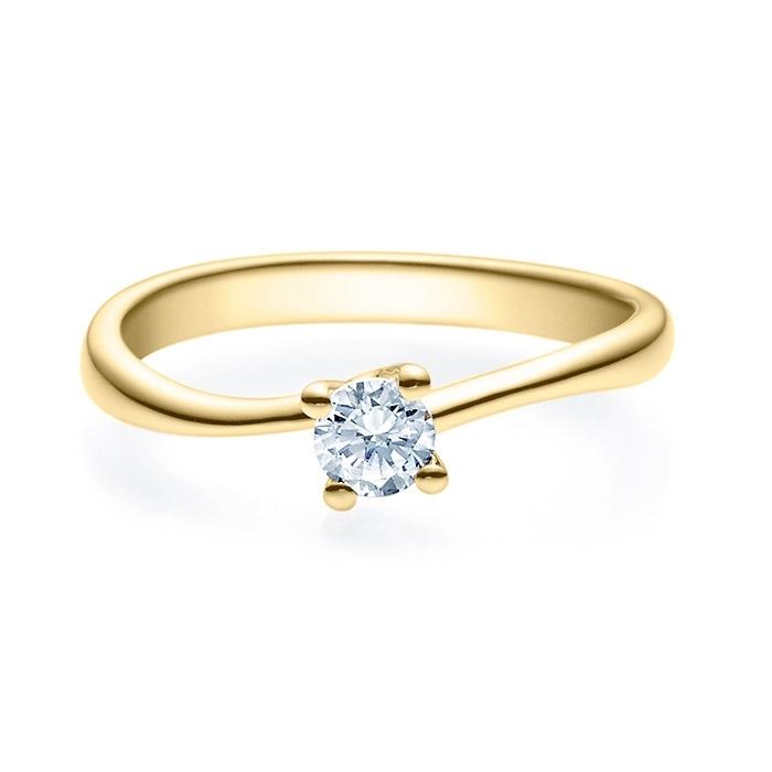 Enstens diamantring Melina med 0,25 ct i 14kt gull. TW-Si. -18011025