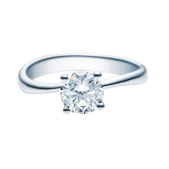 Enstens diamantring Melina med 1,00 ct TW-Si i platina -18011100pt