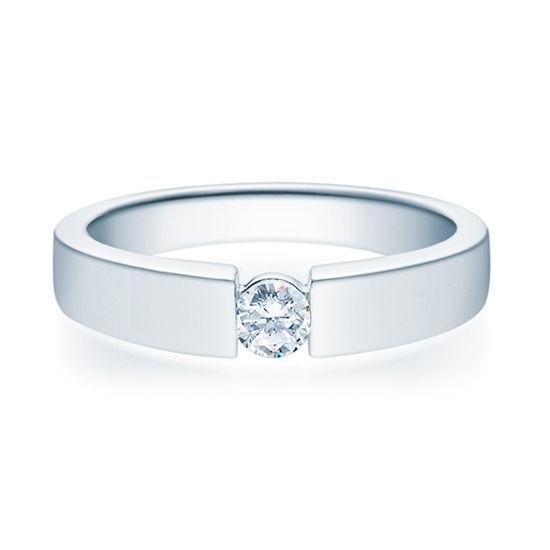 Enstens diamantring med 0,20 ct i 14kt gull. TW-Si. -18012020