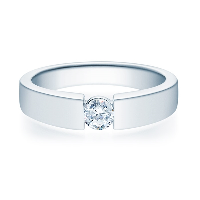 Enstens diamantring med 0,25 ct i 14kt gull. TW-Si. -18012025