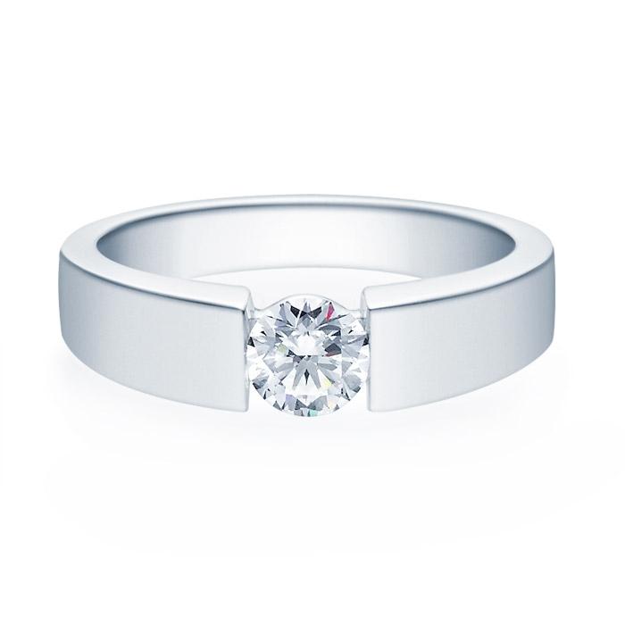 Enstens diamantring med 0,50 ct i 14kt gull. TW-Si. -18012050