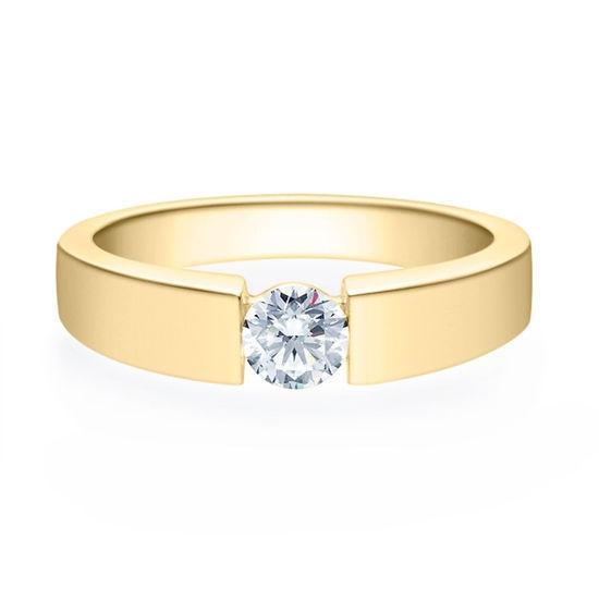 Enstens diamantring med 0,40 ct i 14kt gull. TW-Si. -18012040