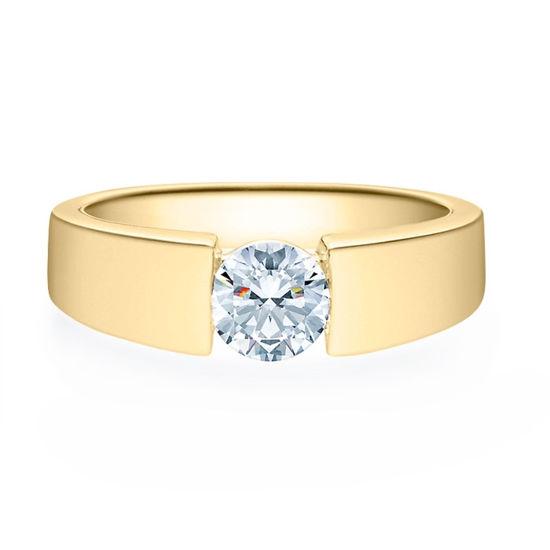 Enstens diamantring med 0,70 ct i 14kt gull. TW-Si. -18012070