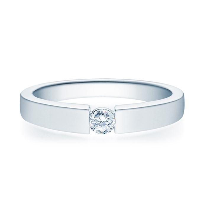 Enstens diamantring med 0,16 ct TW-Si i platina -18012016pt