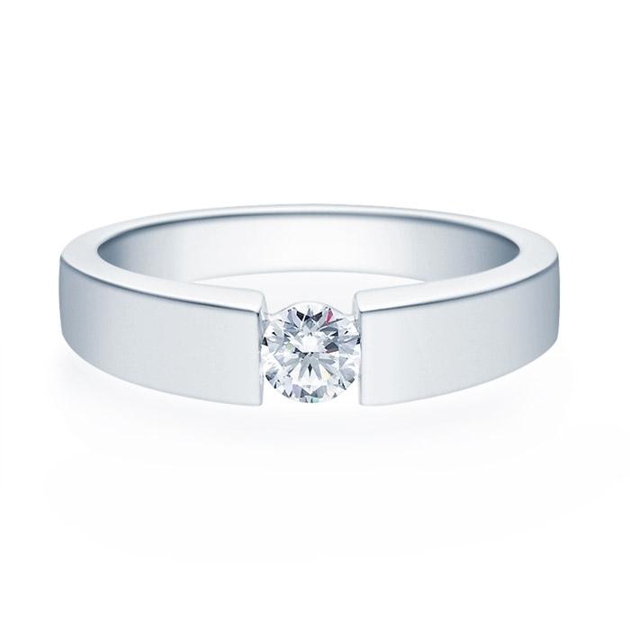 Enstens diamantring med 0,30 ct TW-Si i platina -18012030pt