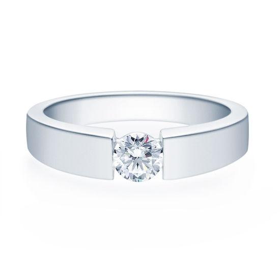 Enstens diamantring med 0,40 ct TW-Si i platina -18012040pt