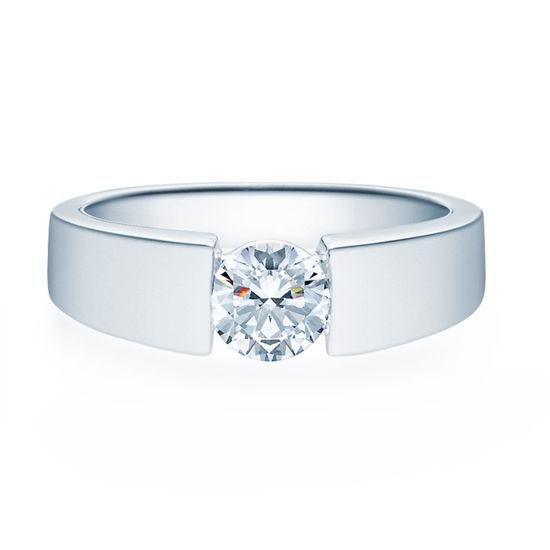 Enstens diamantring med 0,70 ct TW-Si i platina -18012070pt