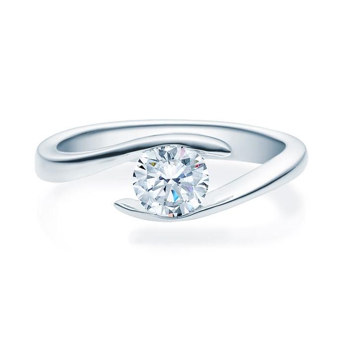 Enstens diamantring med 0,70 ct i 14kt gull. TW-Si. -18015070