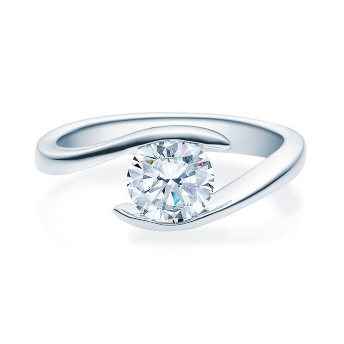 Enstens diamantring med 1,00 ct i 14kt gull. TW-Si. -18015100