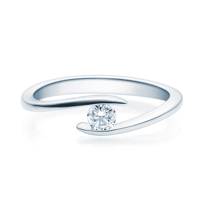 Enstens diamantring med 0,20 ct TW-Si i platina -18015020pt