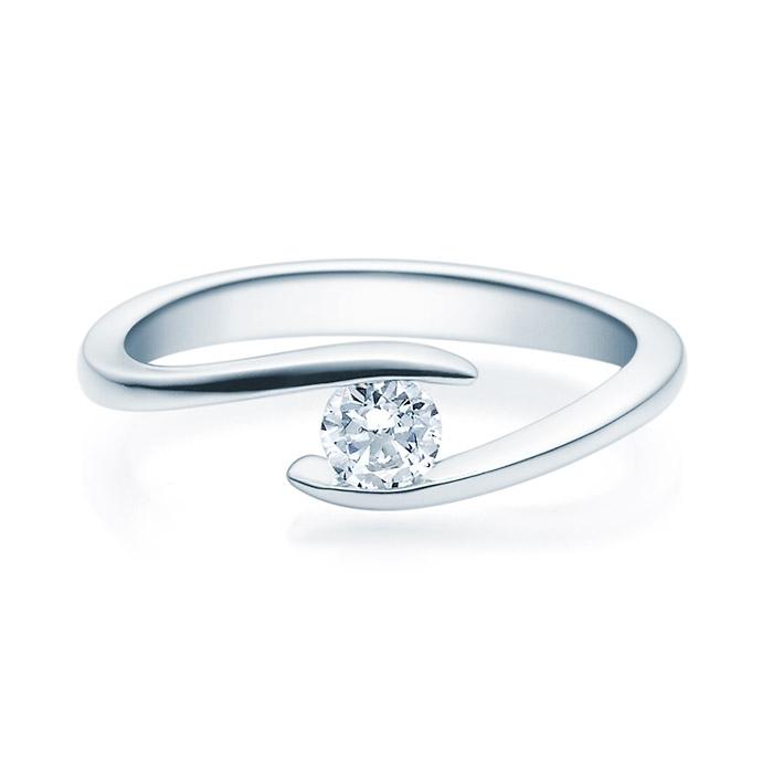 Enstens diamantring med 0,25 ct TW-Si i platina -18015025pt