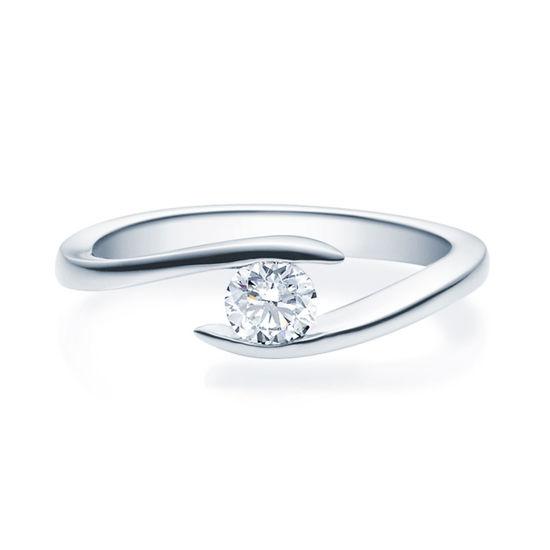 Enstens diamantring med 0,30 ct TW-Si i platina -18015030pt