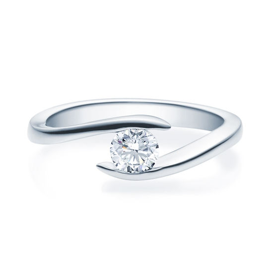 Enstens diamantring med 0,40 ct TW-Si i platina -18015040pt