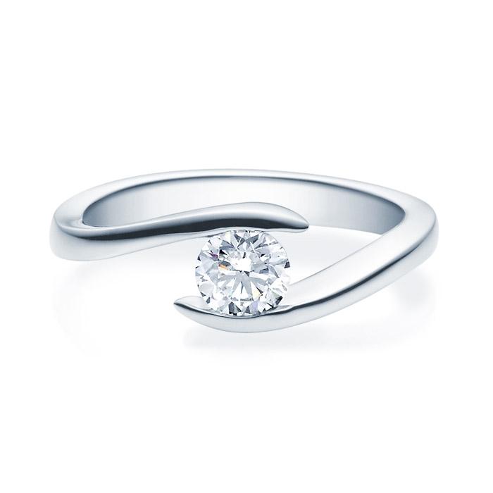 Enstens diamantring med 0,50 ct TW-Si i platina -18015050pt